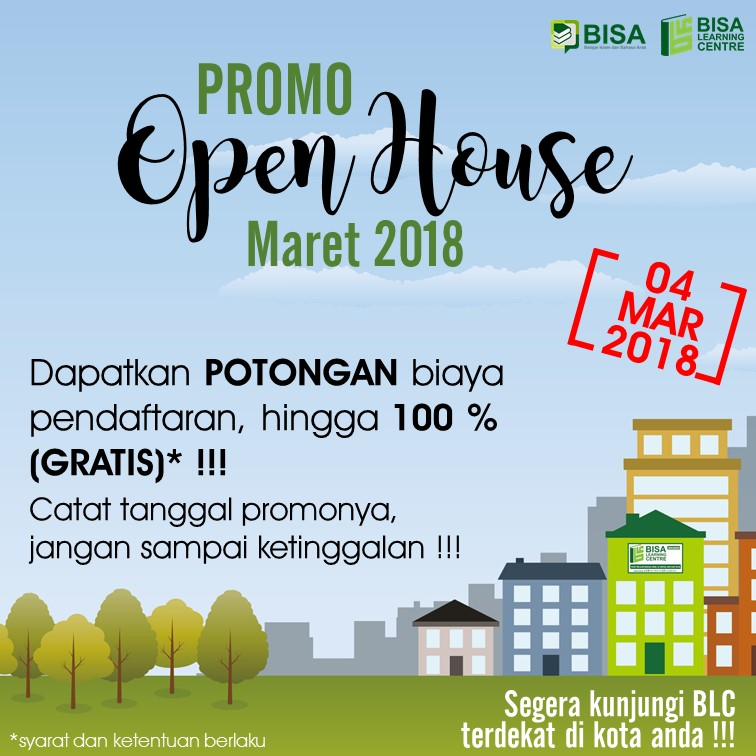 Open House Kursus Bahasa Arab BLC